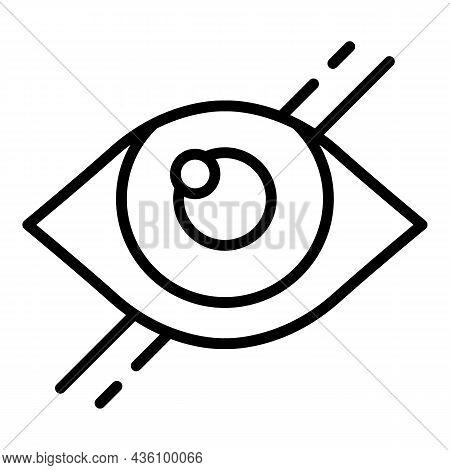 Visual Eye Icon Outline Vector. Sensory Perception. Health Process