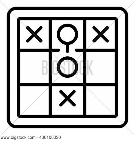 Visual Game Icon Outline Vector. Sensory Process. Health Information