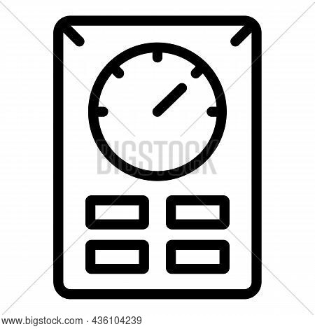 Cnc Machine Gauge Icon Outline Vector. Machinery Steel. Factory Lathe