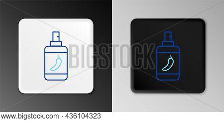 Line Pepper Spray Icon Isolated On Grey Background. Oc Gas. Capsicum Self Defense Aerosol. Colorful