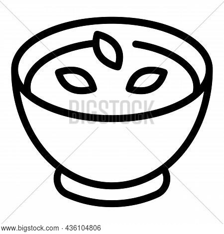 Rustic Cream Soup Icon Outline Vector. Vegetable Food. Mashed Pumpkin