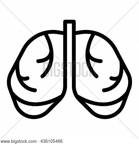 Healthy Lungs Icon Outline Vector. Medical Xray. Patient Lung