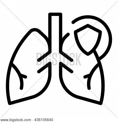 Lungs Covid Icon Outline Vector. Xray Lung. Doctor Health