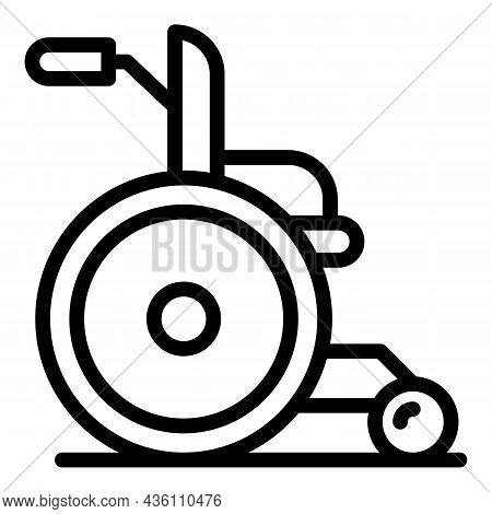 Wheelchair Icon Outline Vector. Handicap Person. People Disable