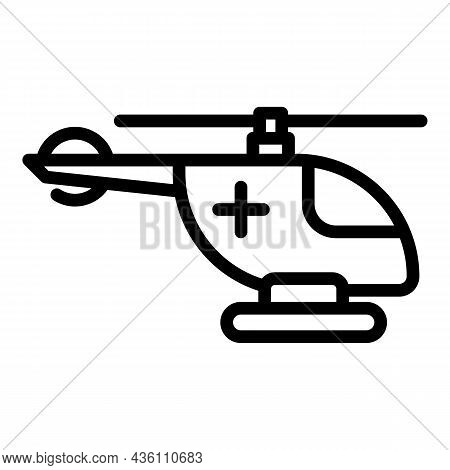 Rescue Helicopter Icon Outline Vector. Air Search. Emergency Aviation