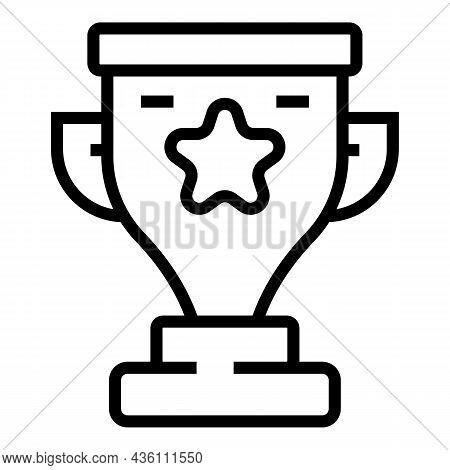 Training Cup Icon Outline Vector. Online Laptop. Seminar Graduation