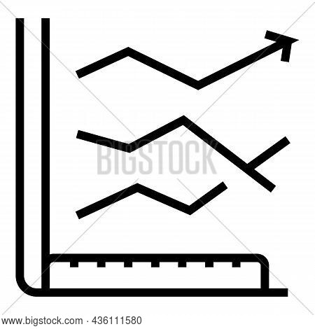 Graph Chart Speaker Icon Outline Vector. Seminar Presentation. Person Conference