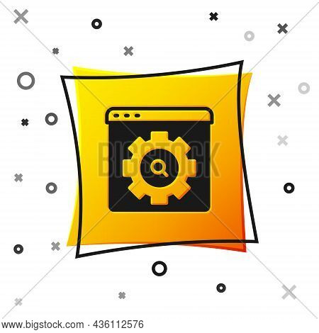 Black Browser Setting Icon Isolated On White Background. Adjusting, Service, Maintenance, Repair, Fi