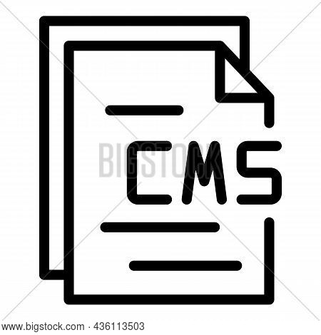 Cms Paper Icon Outline Vector. Web Design. Graphic Code