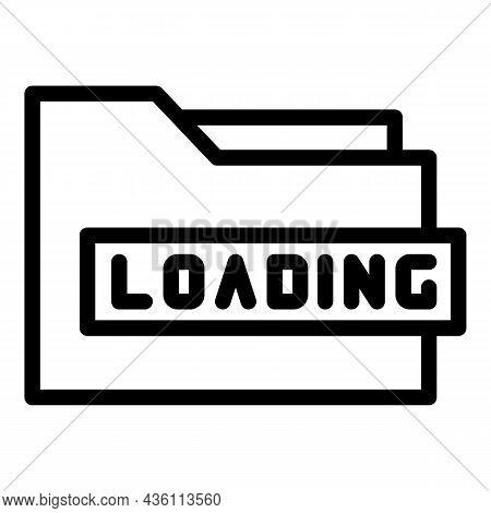 Loading Folder Icon Outline Vector. Html Code. Web Design