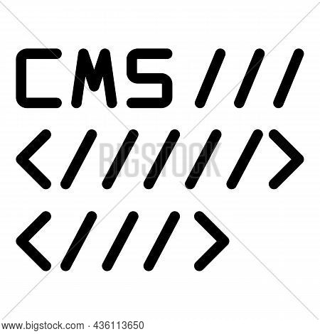 Cms Code Icon Outline Vector. System Tool. Page Software