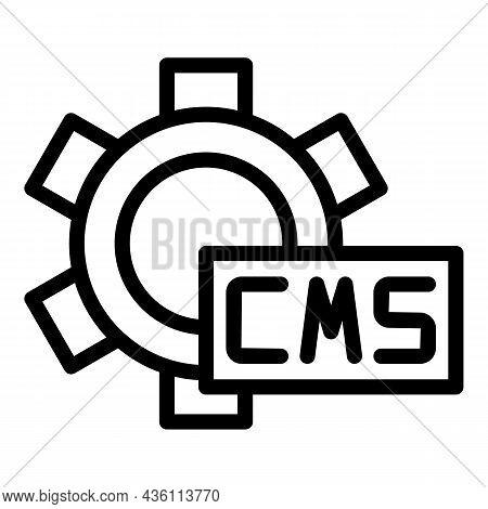 Cms Gear Wheel Icon Outline Vector. Code Html. Web Design