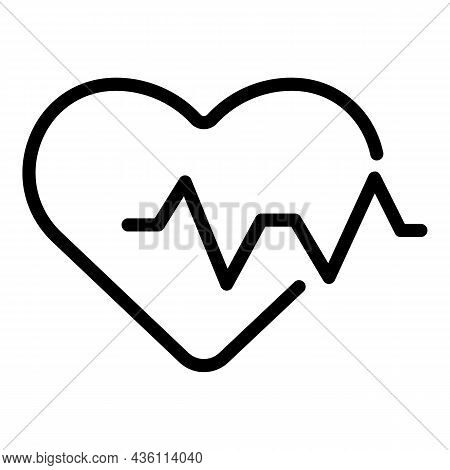 High Heart Rate Icon Outline Vector. Beat Pulse. Cardiac Heartrate