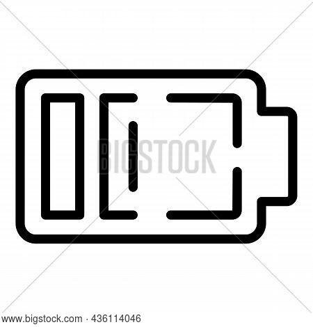 Low Man Energy Icon Outline Vector. Panic Attack. Mental Fear