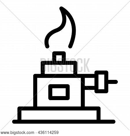 Chemical Lab Fire Icon Outline Vector. Medical Tool. Chemistry Test