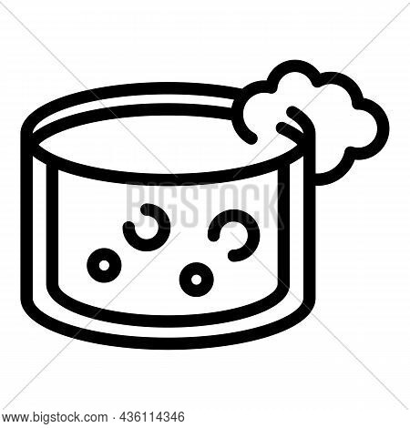 Lab Chemical Foam Icon Outline Vector. Science Research. Test Chemistry
