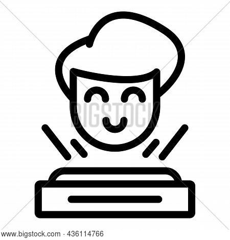 Kid Vr Tour Icon Outline Vector. Camera Angle. View Panoramic