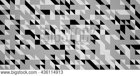 White Background With Triangle Pattern Monotone Triangle Pattern Background 3d Illustration