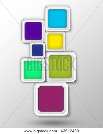 Background. Colored Blocks