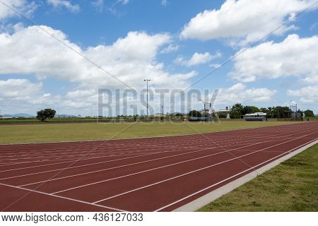 The Marked Lanes Of An Athletic Track