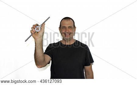 Man With Tool, Locksmith, Foreman A Photo