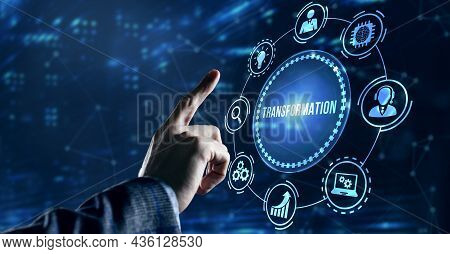 Internet, Business, Technology And Network Concept.business Transformation. Future And Innovation In