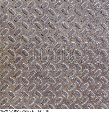 The Texture Of A Sheet Of Metal Or Steel With Traces Of Rust, Steel Pattern.