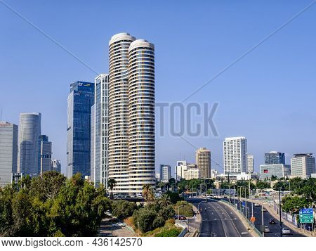 Tel Aviv-yafo, Israel - September 9, 2021: Cityscape View Of Tel Aviv, Israel.