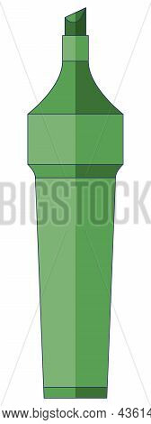 Antibacterial Iodine Pencil, Antiseptic For Wounds In A Flat Style Isolated On A White Background.