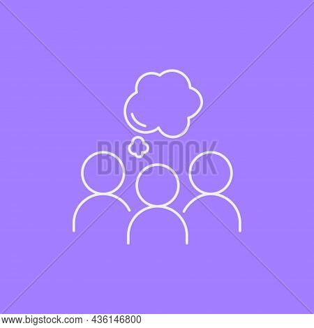 Group Therapy Line Icon Concept. Group Of People Discussing On Psychotherapy Session Outline Stroke
