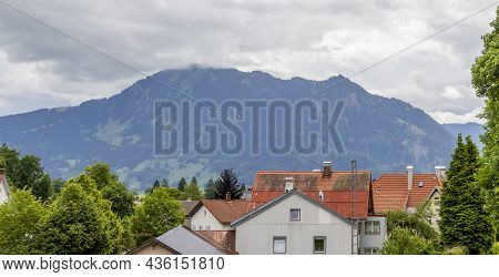 Mountain Scenery Around Immenstadt, A Town In The Upper Allgaeu In Bavaria, Germany