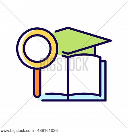 Academic Research Talent Rgb Color Icon. Study And Investigation. Cognitive Skill. Data Collection A
