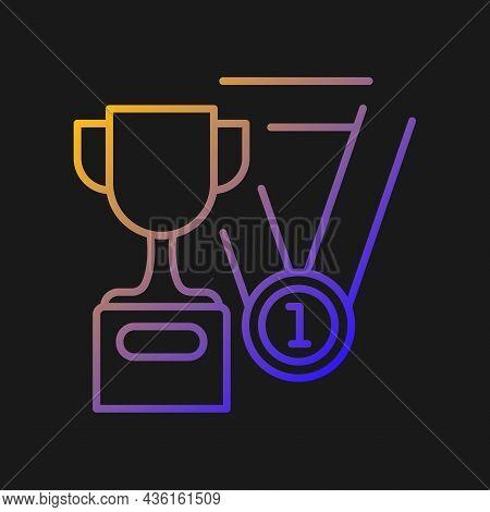Sports Talent Gradient Vector Icon For Dark Theme. Athletic Aptitude. Talented Sportsman. Healthy Li