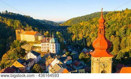 Becov nad Teplou is a medieval town in Karlovy Vary District. Castle and chateau are famous european landmarks. Czech Republic, Central Europe.