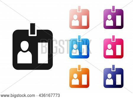 Black Press Journalist Vertical Badge Icon Isolated On White Background. Media Identification Id Car