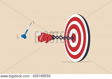 Tough Time Or Career Struggle, Trouble, Difficulty Or Obstacle To Achieve Business Target, Hard Situ