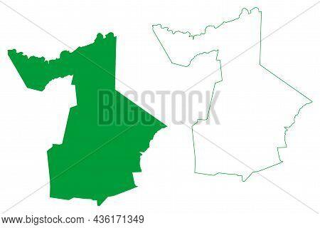 Capim Grosso Municipality (bahia State, Municipalities Of Brazil, Federative Republic Of Brazil) Map