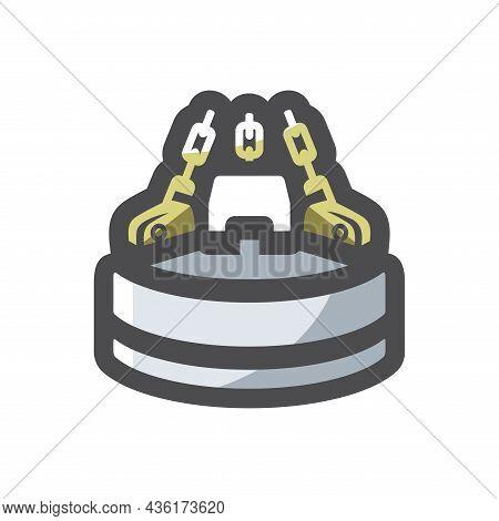 Dump Magnet Equipment Vector Icon Cartoon Illustration