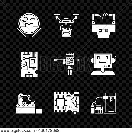 Set Robot Vacuum Cleaner, Printed Circuit Board Pcb, 3d Printer, Electronic Computer Components Moth