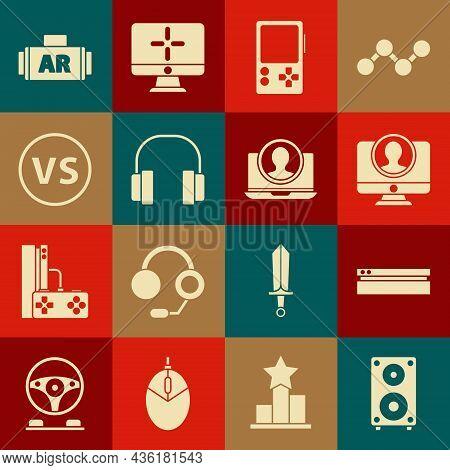 Set Stereo Speaker, Video Game Console, Create Account Screen, Portable Video, Headphones, Vs Versus