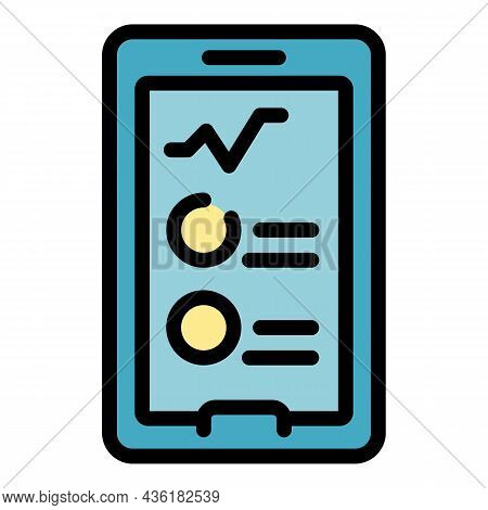 Phone Medical Consultation Icon. Outline Phone Medical Consultation Vector Icon Color Flat Isolated