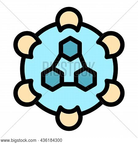 Health Immune System Icon. Outline Health Immune System Vector Icon Color Flat Isolated
