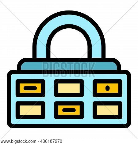 Guard Cipher Icon. Outline Guard Cipher Vector Icon Color Flat Isolated