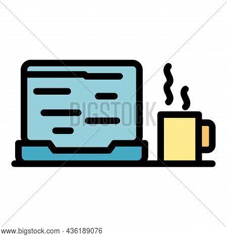 Ergonomic Job Icon. Outline Ergonomic Job Vector Icon Color Flat Isolated