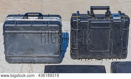 Two Strong Black Boxes For Tools And Equipment