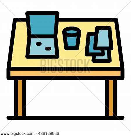 Organized Table Icon. Outline Organized Table Vector Icon Color Flat Isolated