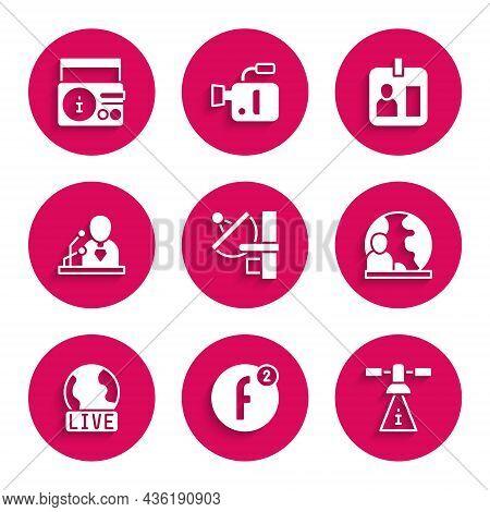 Set Radar, Create Account, Satellite, World News, Live Report, Breaking, Journalist Id Card And News