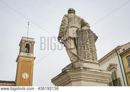 Giuseppe Garibaldi Square In Rovigo An Historical Italian City