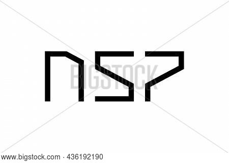 Initial Nsp Abstract Futuristic Letters For Progress Technology Business Identity Logotype Concept.