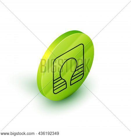 Isometric Line Life Jacket Icon Isolated On White Background. Life Vest Icon. Extreme Sport. Sport E